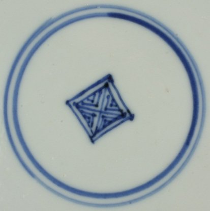 2010189A Square shop mark in a double circle, underglaze blue.